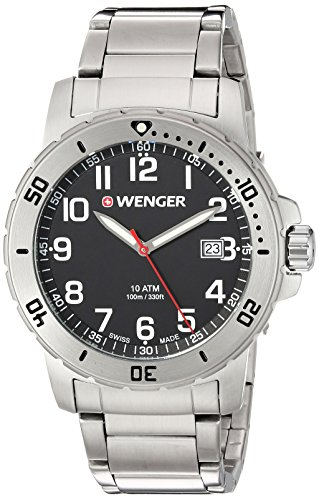 Wenger-Mens-Off-Road-Swiss-Quartz-Stainless-Steel-Casual-Watch-ColorSilver-Toned-Model-011341104