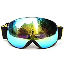 Docooler Adult Snowboard Skate Ski Goggles with Wide Spherical Lens Snow Goggles for Men & Women, UV Protection, Anti-fog