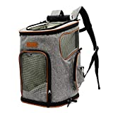 ICOSPET Deluxe Pet Carrier Backpack for Small Cats and Dogs, Puppies | Ventilated Design, Two-Sided Entry, Safety Features and Cushion Back Support | for Travel, Hiking, Outdoor Use Review
