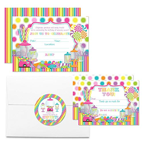 Deluxe Sweet Shoppe Candy Shop Birthday Party Bundle, Includes 20 Each of 5