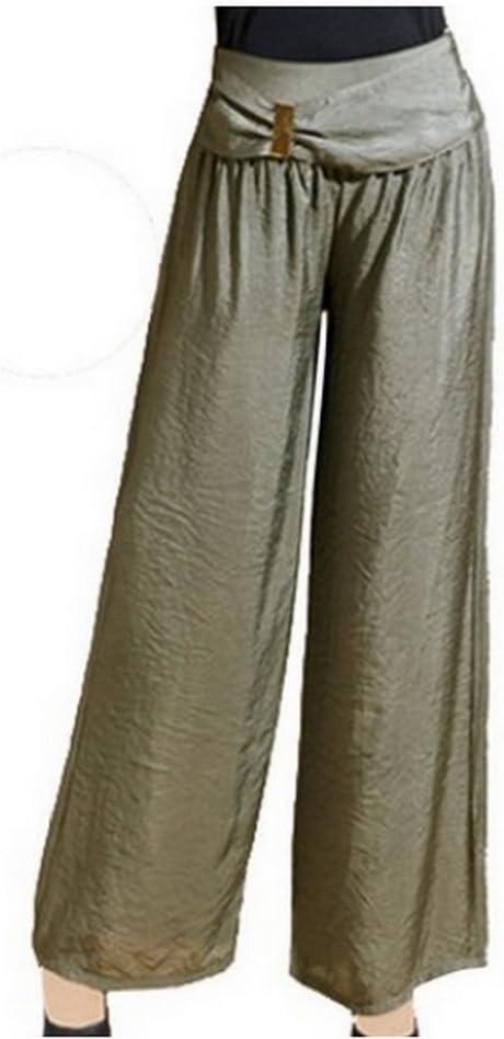 Lagenlook clothing Wide leg linen pants Linen trousers Elastic waist Bohemian pants for women Sage green Plus size Culottes with pockets