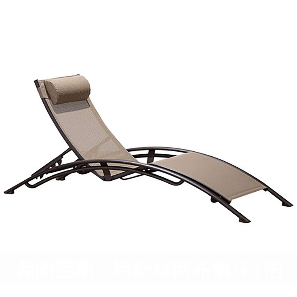 LJ&XJ Aire Libre Portátil Plegable Chaise Lounge, Ajustable Back ...