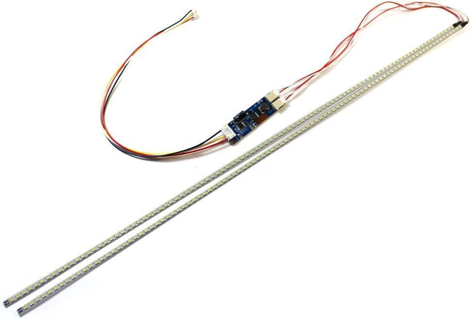 Highlight 10-24'' Dimable LED Backlight Lamps Update Kit Adjustable Light Board +2 LED Strips for LCD Monitor