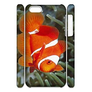 3D IPhone 5C Case, Shock Absorbent Animal Aquarium 8 Case for IPhone 5C {White}