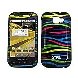 Samsung Transform M920 Case, EMPIRE Black Multi Colored Zebra Design Snap-On Cover Case for Samsung Transform M920