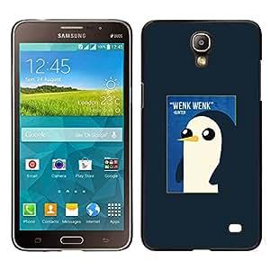 Pingüino lindo de la acuarela de los rosas bebés- Metal de aluminio y de plástico duro Caja del teléfono - Negro - Samsung Galaxy Mega 2