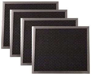 range hood charcoal filter for broan 97007696 6105c 4 pack kitchen dining. Black Bedroom Furniture Sets. Home Design Ideas