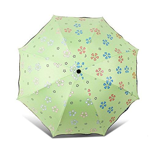 Uv La verde Ai Anti Parasol Exterior Plegable Magic Paraguas Portátil Color Lluvia Asoleado Flower Sol Triple Verde life Agua Creativo Cambiador De UqRpZwUS