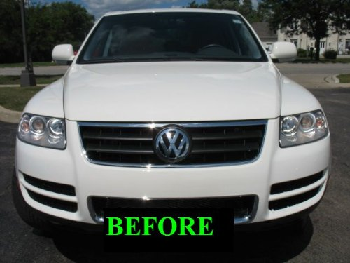 2004 2010 vw volkswagen touareg chrome grill grille kit. Black Bedroom Furniture Sets. Home Design Ideas