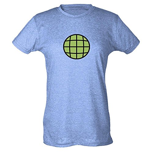 Planeteer Costume Heather Blue M Womens T-Shirt by Pop Threads