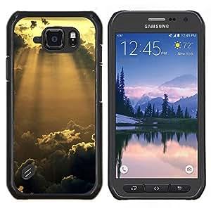 EJOOY---Cubierta de la caja de protección para la piel dura ** Samsung Galaxy S6Active Active G890A ** --Sunshine Nubes Glow