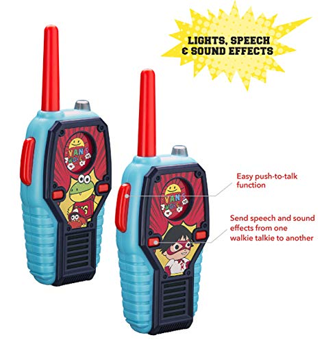 Ryans World FRS Walkie Talkies for Kids with Lights and Sounds Kid Friendly Easy to Use by eKids (Image #1)