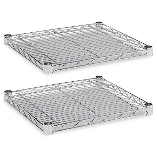 Alera ALESW581818SR  Industrial Extra Wire Shelves, 18W X 18D, Silver (Case of 2) from Alera