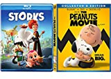 The Peanuts Dream Big & Laugh Along Movie + Storks Animated Blu Ray DVD Double Feature
