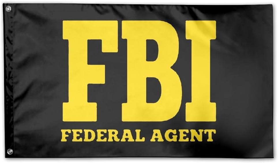 UDSNIS FBI Federal Bureau Of Investigation Garden Flag 3 X 5 Flag For Yard Decorative Banner Black