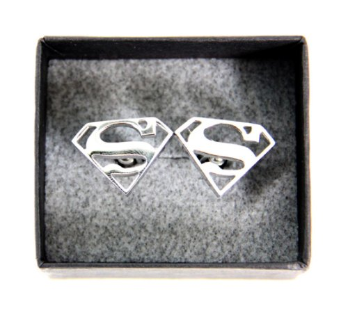 DC Comics Superman Stainless Steel Cufflinks by DC Comics