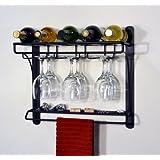 J&J Wire Wall Mount Wine Bar Rack