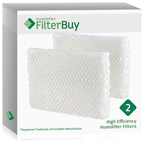 FilterBuy Humidifier Wick Replacement Filters for Lasko Humidifiers. Compare to Lasko Part # THF 8, THF-8, THF8. Pack of 2.