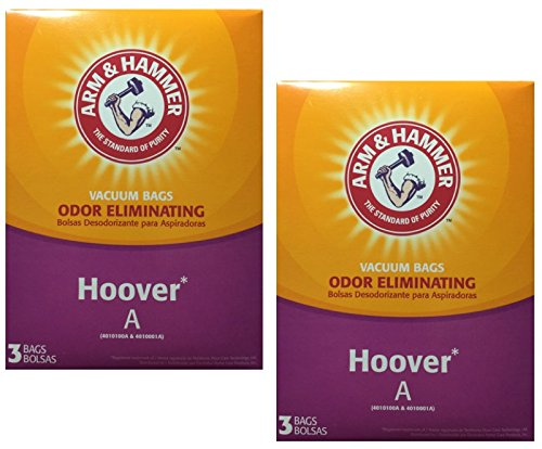 Amazon.com - Arm & Hammer Odor Eliminating Vacuum Bags, Hoover A, 3 Count Box, 2-Pack (6 Bags) -