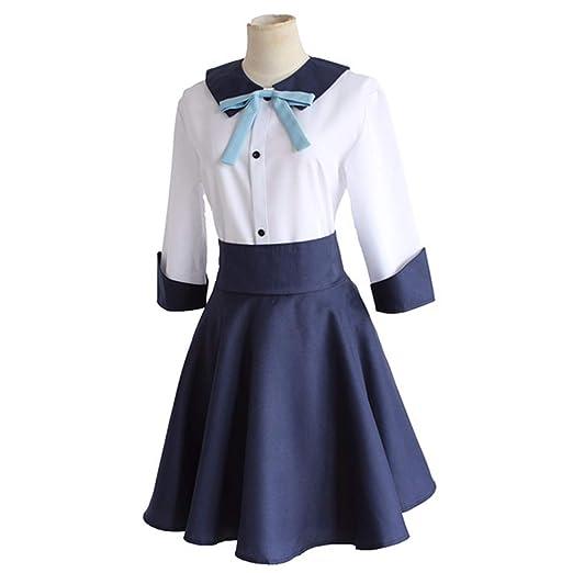 YKJ Traje de Cosplay de Anime Camisa Blanca Falda Azul Traje ...
