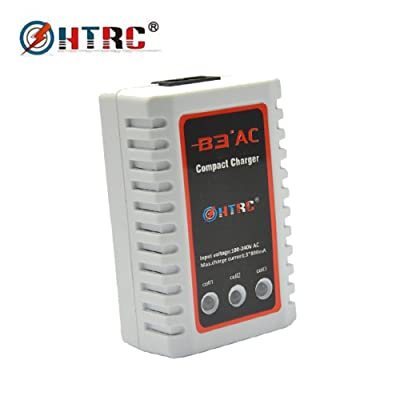 HTRC LiPo 2S-3S Battery Balancer Charger 7.4-11.1V RC B3AC Pro Compact Charger: Toys & Games