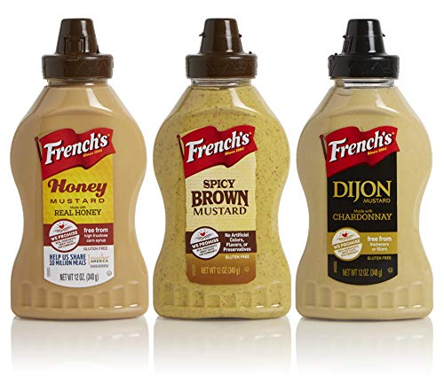 French's 12oz Squeeze Mustard Variety 3-Pack - Honey Mustard, Spicy Brown, Dijon