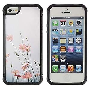 LASTONE PHONE CASE / Suave Silicona Caso Carcasa de Caucho Funda para Apple Iphone 5 / 5S / Nature Flower Sky Field Summer