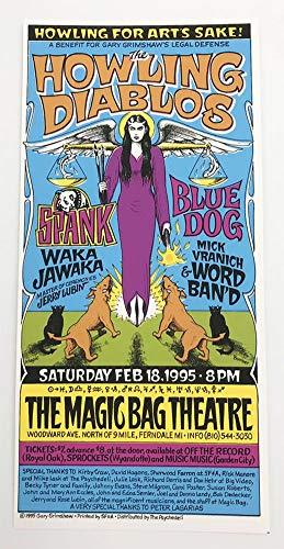 The Howling Diablos Original 1995 Rock Concert Silkscreen Handbill Poster Gary ()
