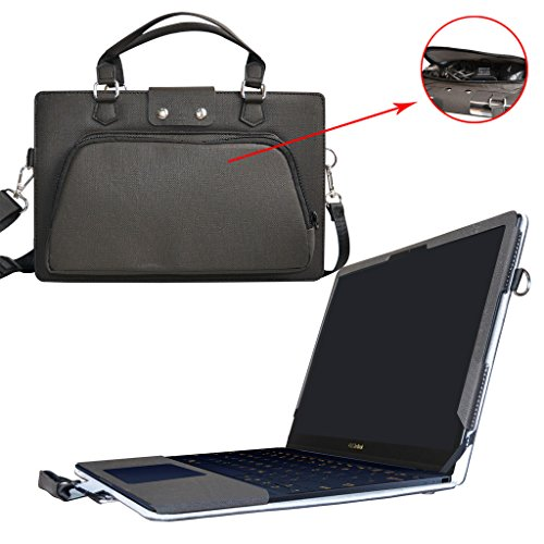 ZenBook 3 UX390UA Case,2 in 1 Accurately Designed Protective PU Leather Cover + Portable Carrying Bag For 12.5