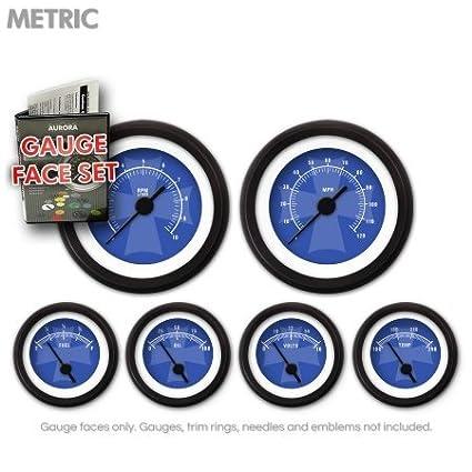 GARFM79 Iron Cross Blue Gauge Face Set Aurora Instruments