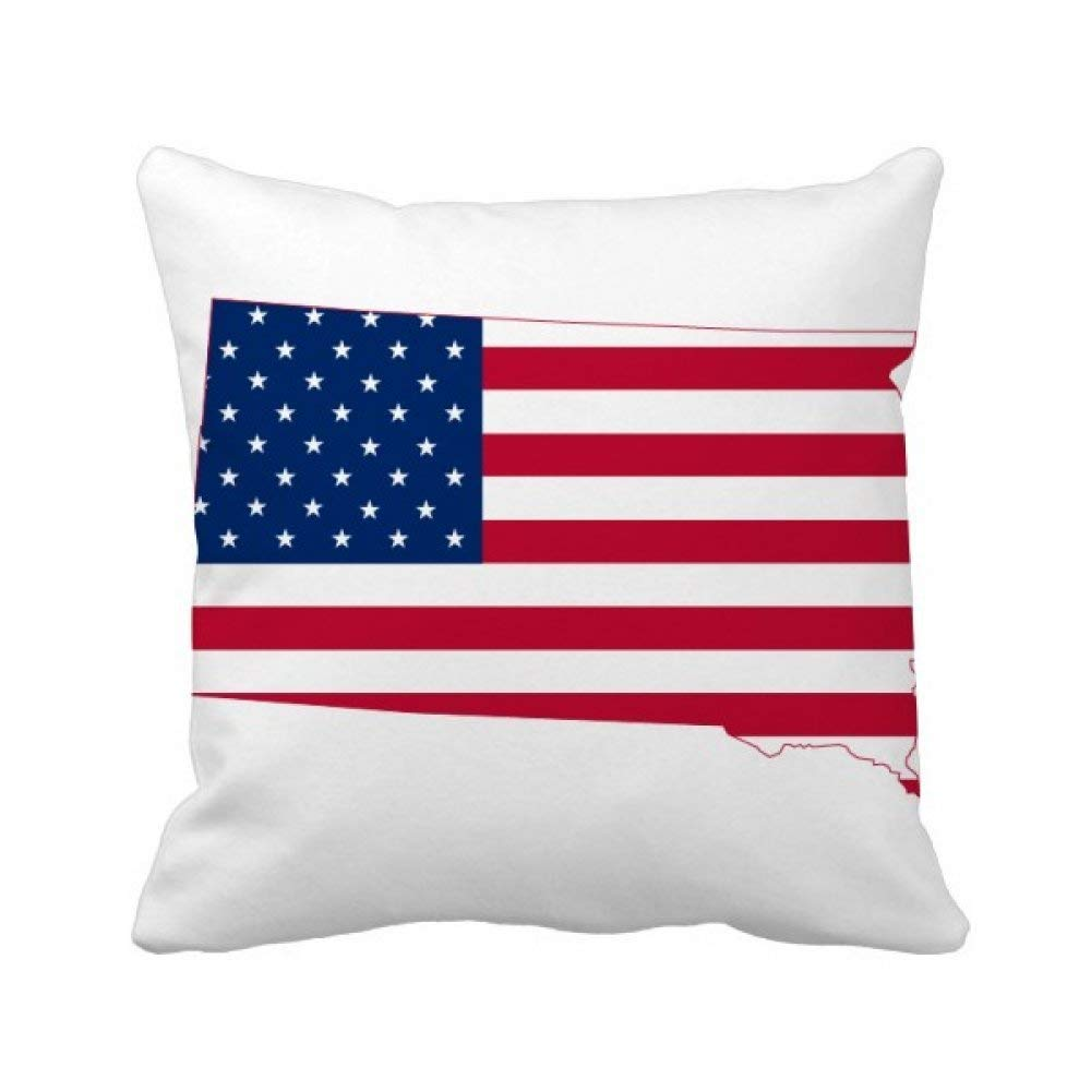 Buy Beatchong Beatchong South Dakota Usa Map Stars Stripes Flag Shape Square Throw Pillow Insert Cushion Cover Home Sofa Decor Gift 40 X 40cm There Are Some Measurement Error Multicolour Online At