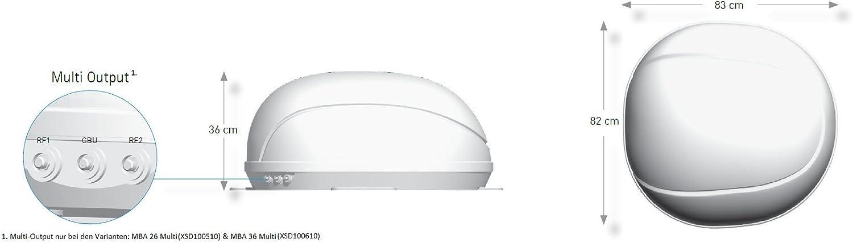 80 cm wei/ß Xoro MTA 80 Vollautomatische Satelliten-Antenne