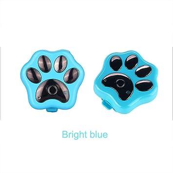 SHIHUIJUAN Mascota Collar Anti-Perdida Anti-Robo Localizador GPS, para Perros Perros Y Gatos Smart Tiempo Real Ubicación Tracker,Backclip-Brightblue: ...