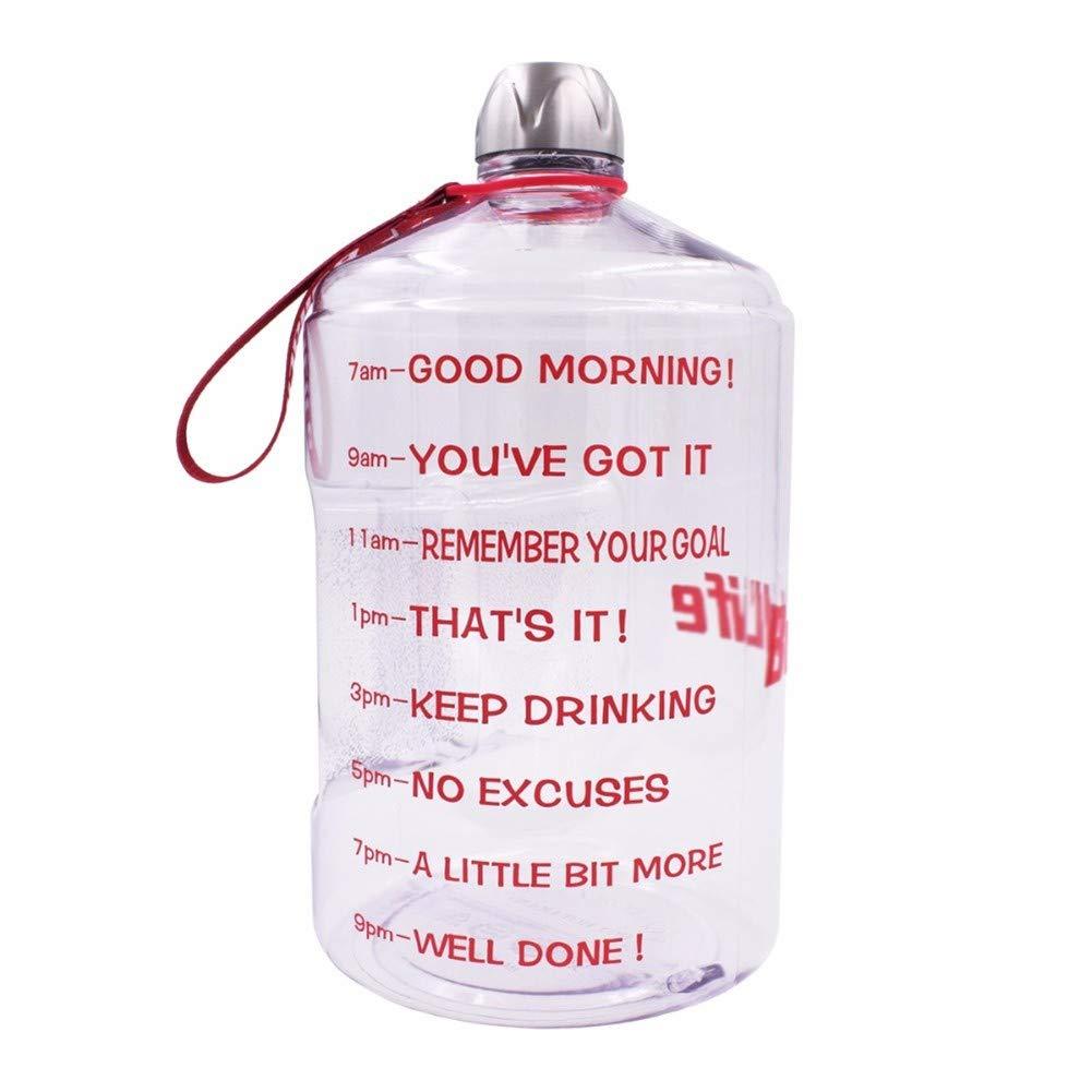CoolLife Transparente große Gallonen-Plastikflasche für Das Sporttraining, Das im Freien Bpa frei trinkt