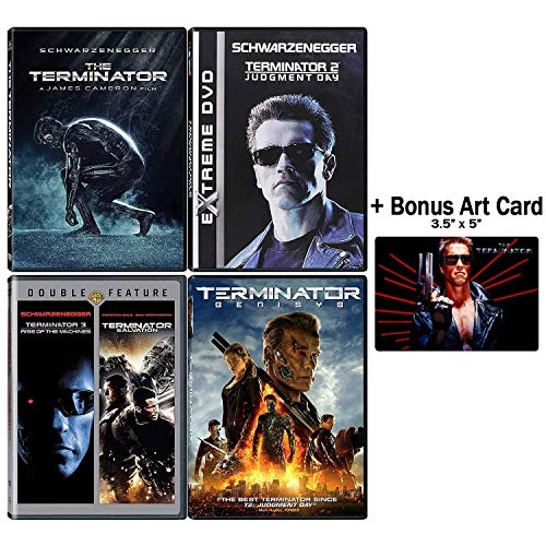 - Terminator: Complete Movie Series DVD Collection - 5 Films (The Terminator / Judgement Day / Rise of the Machines / Salvation / Genisys) + Bonus