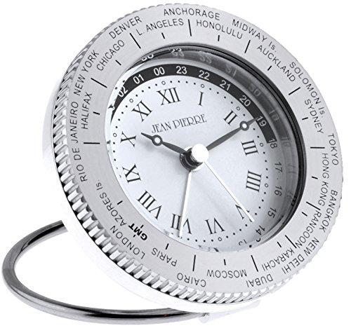 iLuv Travel Alarm Clock World Time - Aluminium with Leather Case - Luxury Gift Box