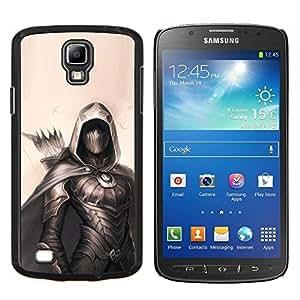 YiPhone /// Prima de resorte delgada de la cubierta del caso de Shell Armor - pintura arquero héroe negro flecha de color beige - Samsung Galaxy S4 Active i9295
