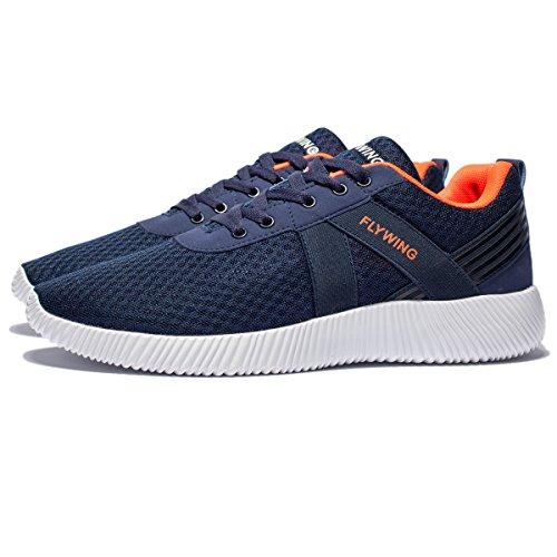[해외]FLYWING 남성 메쉬 러닝 화 경량 운동화 통기성 레저 스포츠 신발 / FLYWING Men`s Mesh Running Shoes Lightweight Athletic Shoes Breathable Leisure Sports Shoes