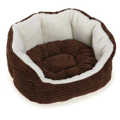 Slumber Pet Oval Bed (Slumber Pet Cozy Cord Pet Bed, 18-Inch, Chocolate)