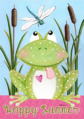 "Welcome to My Pad Summer House Flag Frog Hoppy Summer 28""..."