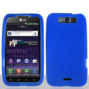Blue Soft Silicone Gel Skin Cover Case for LG Connect 4G MS840 Viper LS840