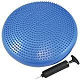 Exercise Core Balance Disc/Cushion - Great For Strengthen Core Stability and Decrease Back Pain - Air Pump Included BY FLAMANT