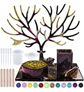 EuTengHao Resin Molds 32Pcs Silicone Molds for Resin, Epoxy Resin Deer Molds Kit Includes Antlers...