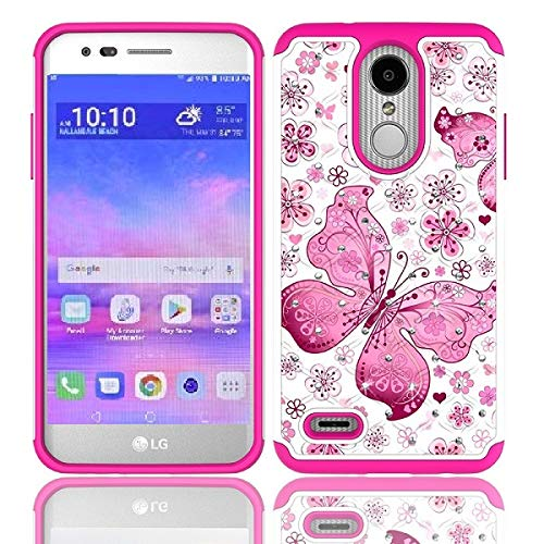 official photos d4397 85b5d LG Rebel 4 Case, LG (Rebel 4) 4G LTE Case, AT&T Prepaid LG Phoenix 4 Case,  Phone Case for Straight Talk LG Rebel 4 Prepaid Smartphone, Studded ...