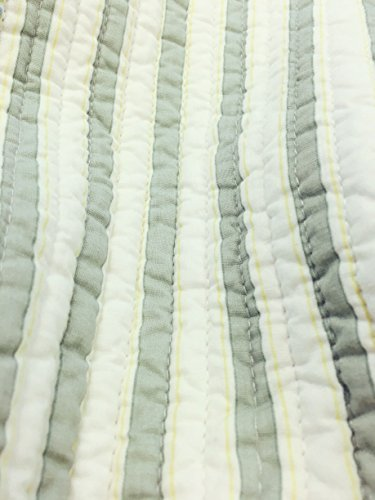 Spa Striped Patchwork 3-Piece Quilt Set (Full/Queen Size) by Cozy Line Home Fashions (Image #6)