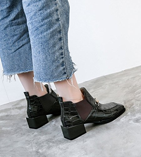 2017 Stivali Donne Nuovo Boots Gray Cotone Moda Inverno Corto Velvet Plus Caldo Martin Britannico qqIpZ