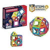 Magformers Basic Set (30 piezas) bloques de construcción magnéticos, azulejos magnéticos educativos, juguete STEM de construcción magnética - 63076