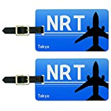 Graphics and More Tokyo Japan - Narita (NRT) Airport Code Luggage Suitcase ID Tags Set of 2