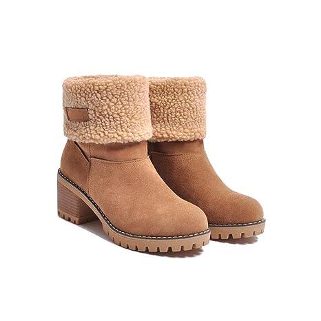 check out 31e45 00773 GAOQQ Stivali Invernali da Donna con Polpaccio Largo ...