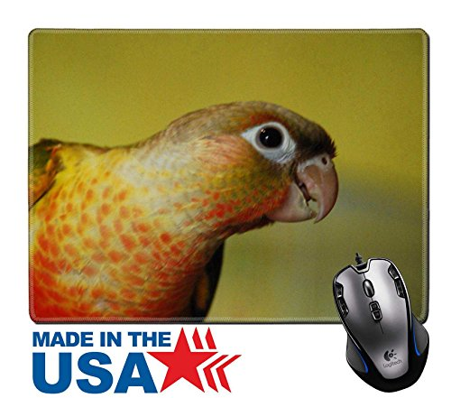 """MSD Natural Rubber Mouse Pad/Mat with Stitched Edges 9.8"""" x 7.9"""" Profile of a Conure IMAGE 19487132"""
